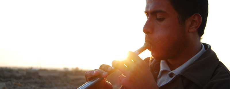 Main image: Flute player.